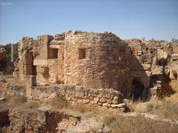 Schola-baden te Leptis Magna (Libië)