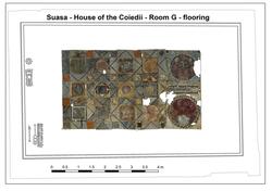 Opus sectile vloer uit Suasa - huis van de Coiedii