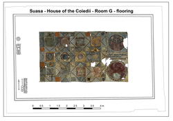Opus sectile floor at Suasa - house of the Coiedii