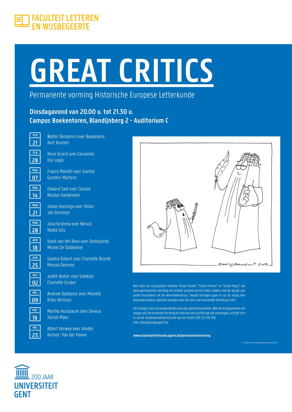 lezingenreeks great critics (vergrote weergave)