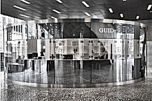 GUIDe kiosk in foyer