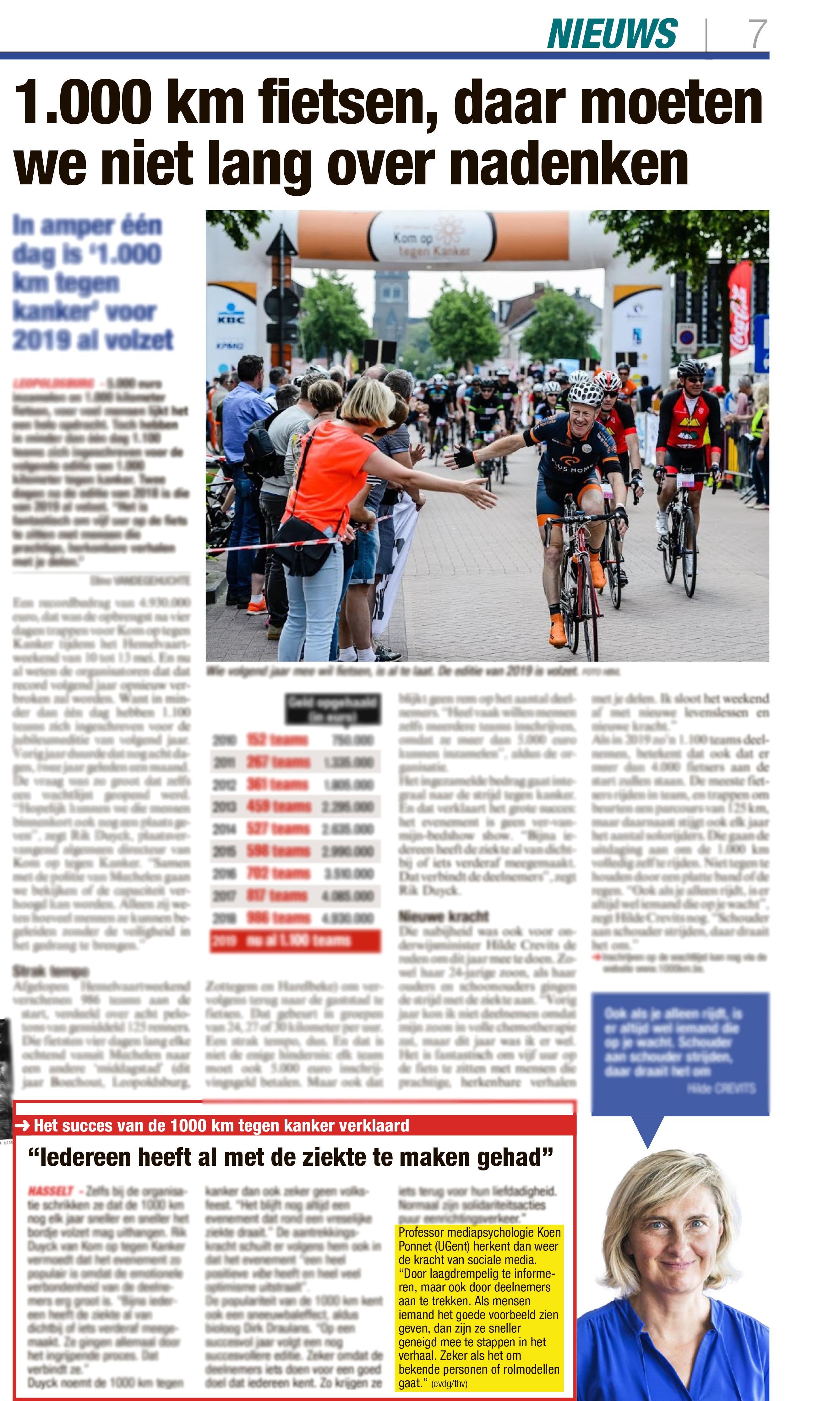 BRON: Het Belang van Limburg, 16/05/2018, p 7