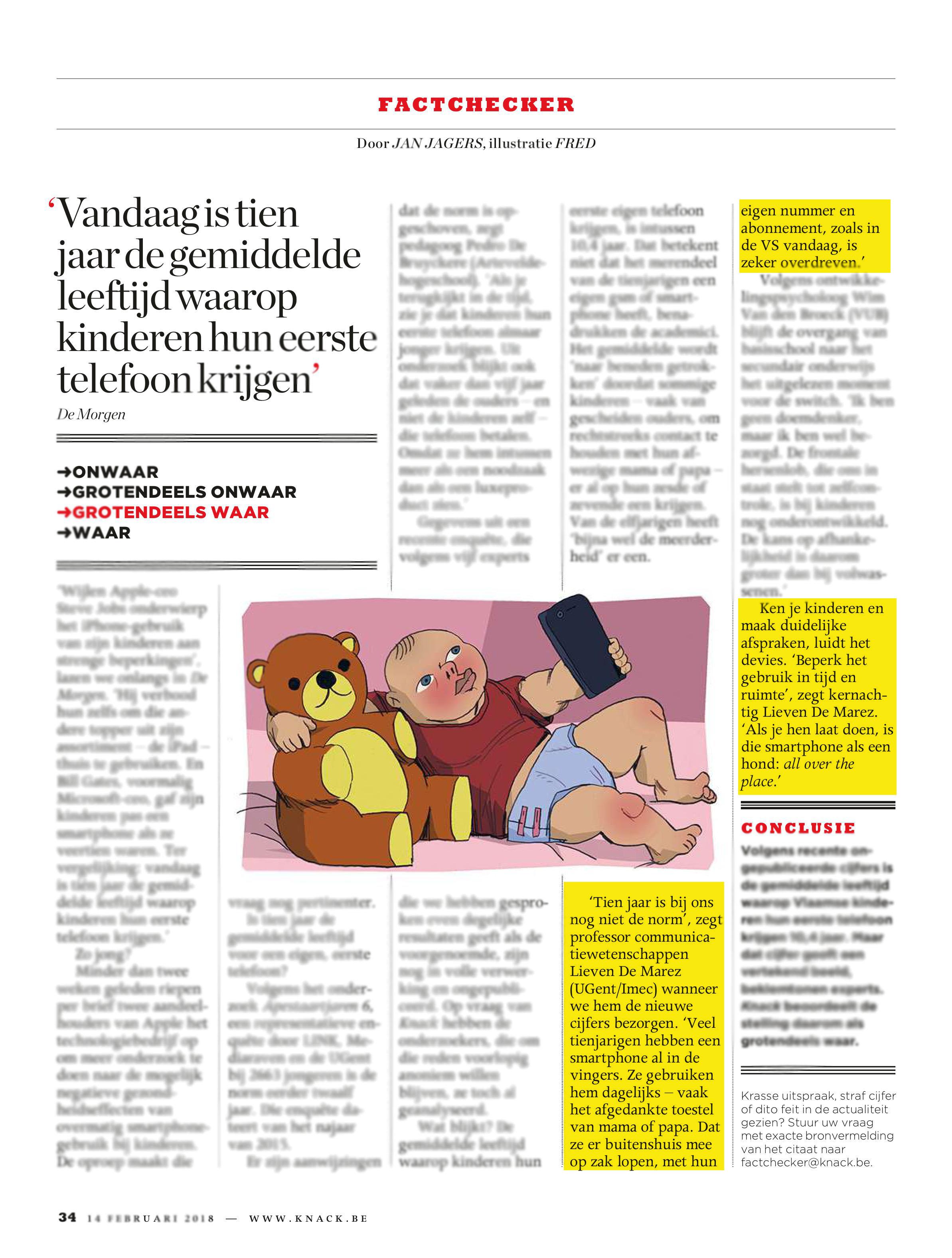 BRON: Knack, 14/02/2018, p 34
