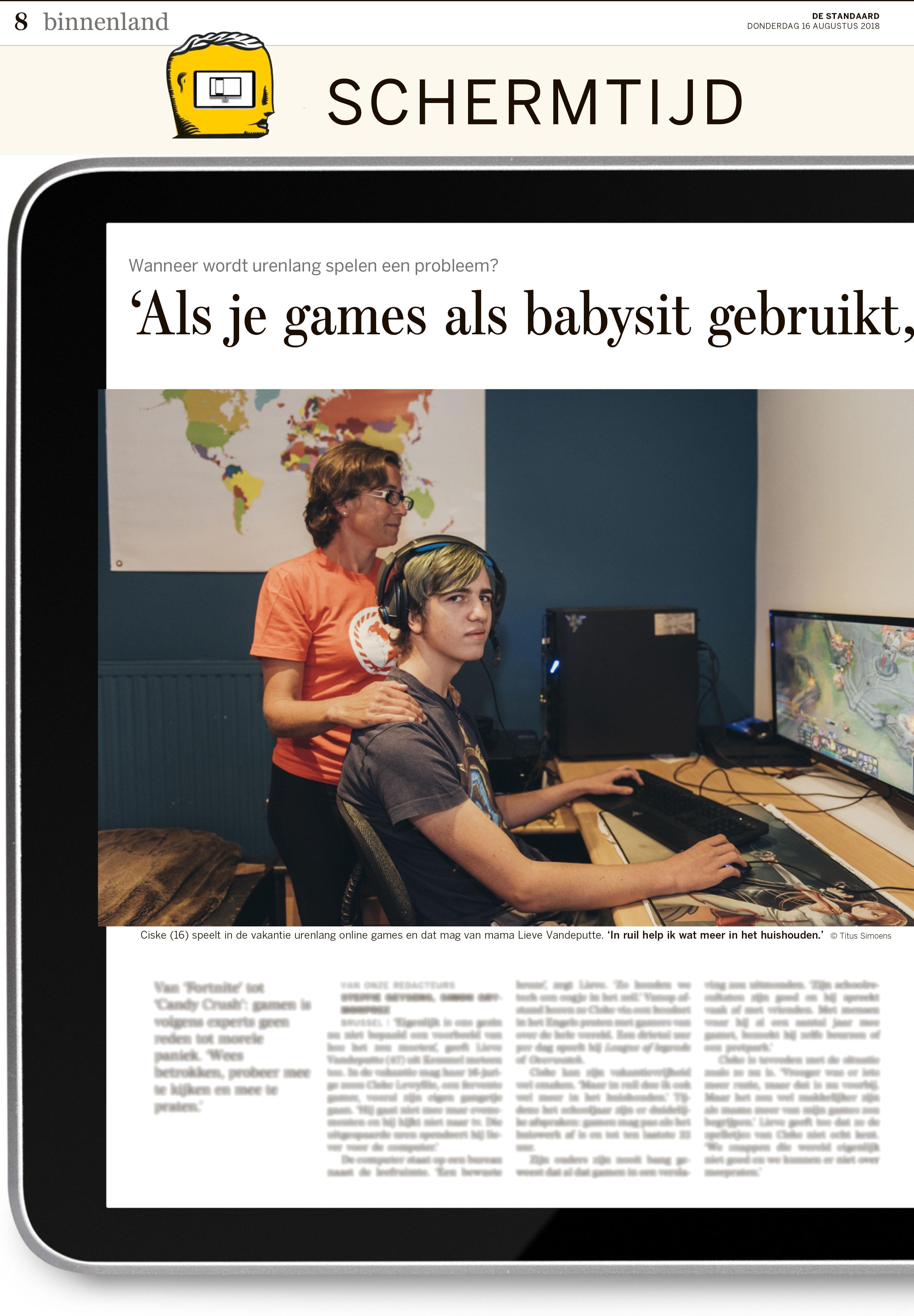 BRON: De Standaard, 16/08/2018, p8