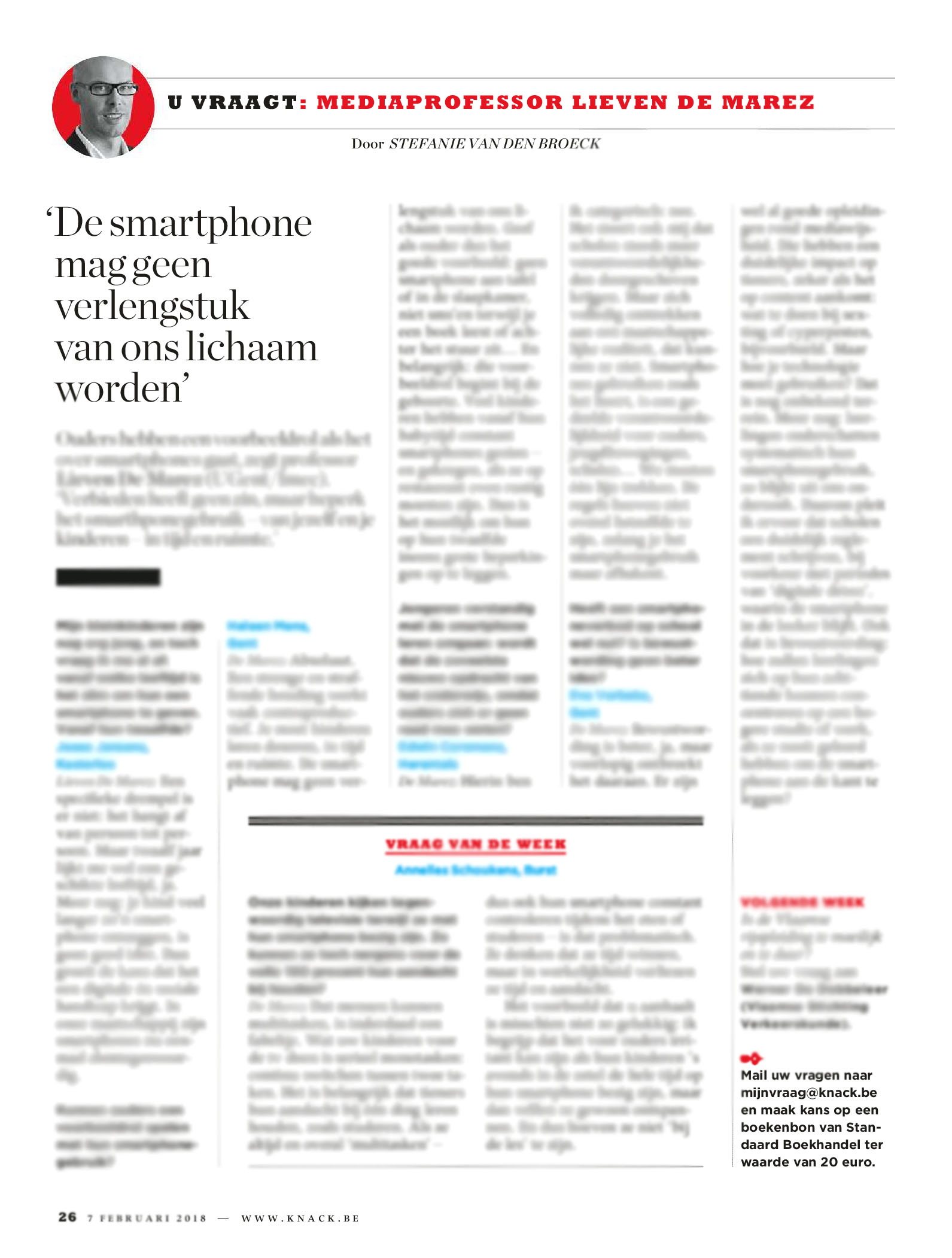 BRON: Knack, 7/02/2018, p 26