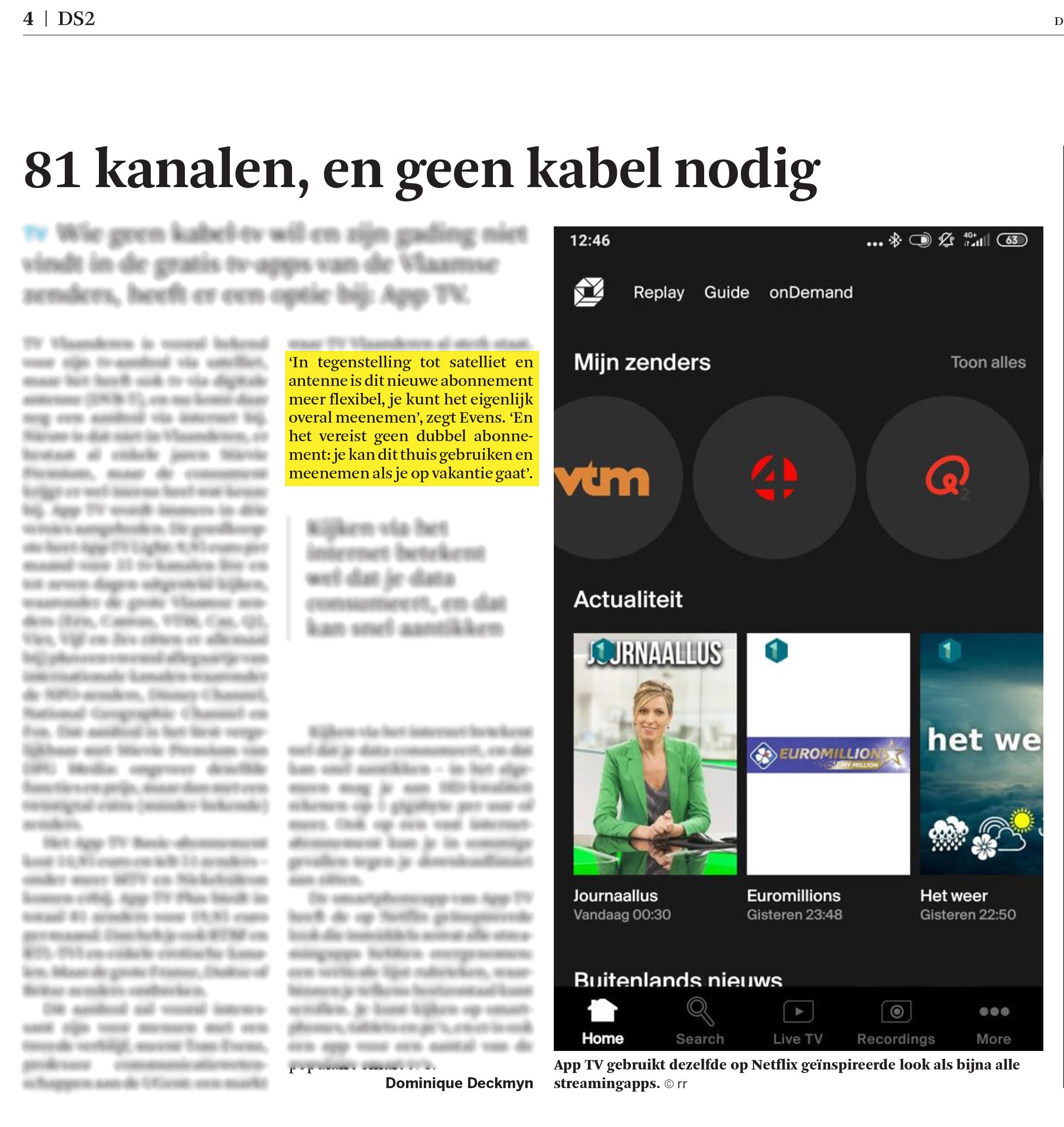 BRON: De Standaard, 11/06/2020, p 4