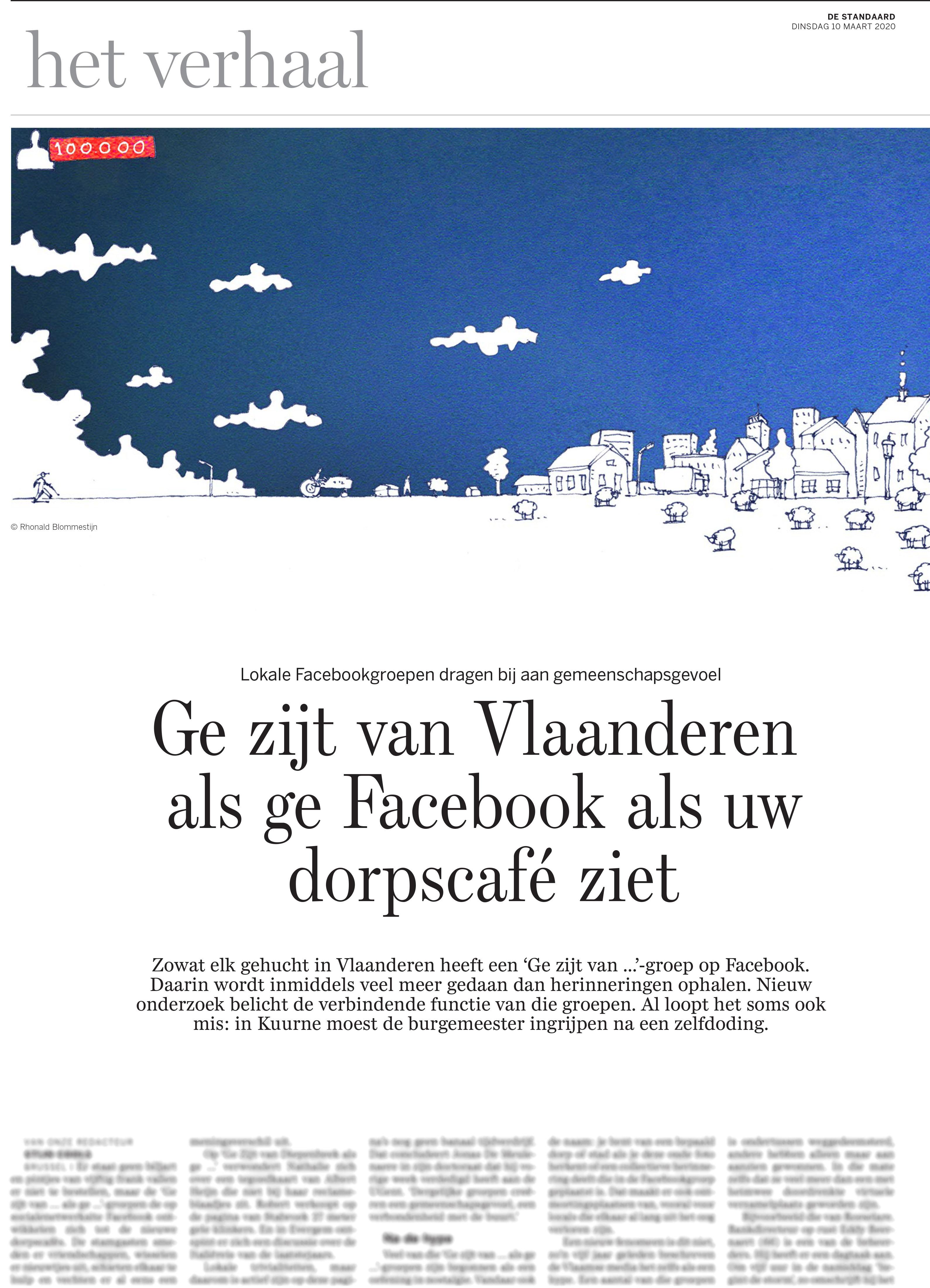 BRON: De Standaard, 10/03/2020, p 14