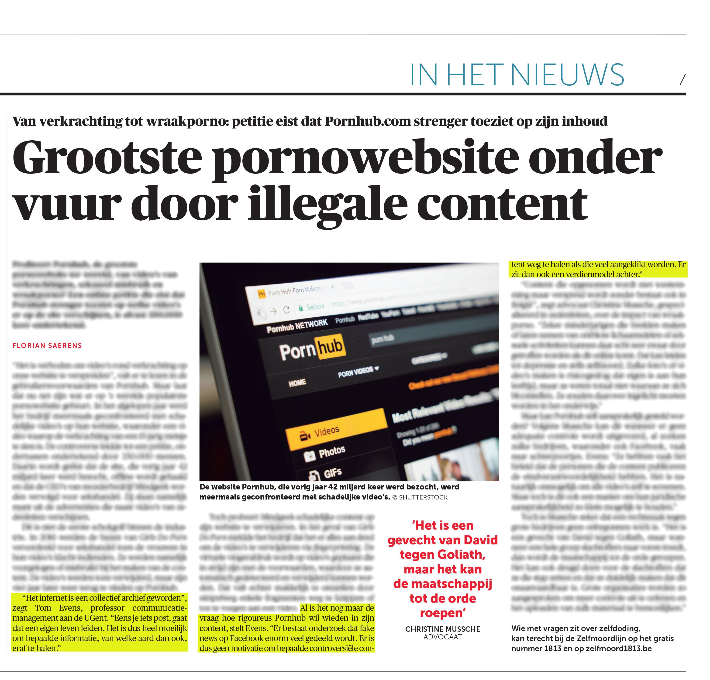 BRON: De Morgen, 10/03/2020, p 7