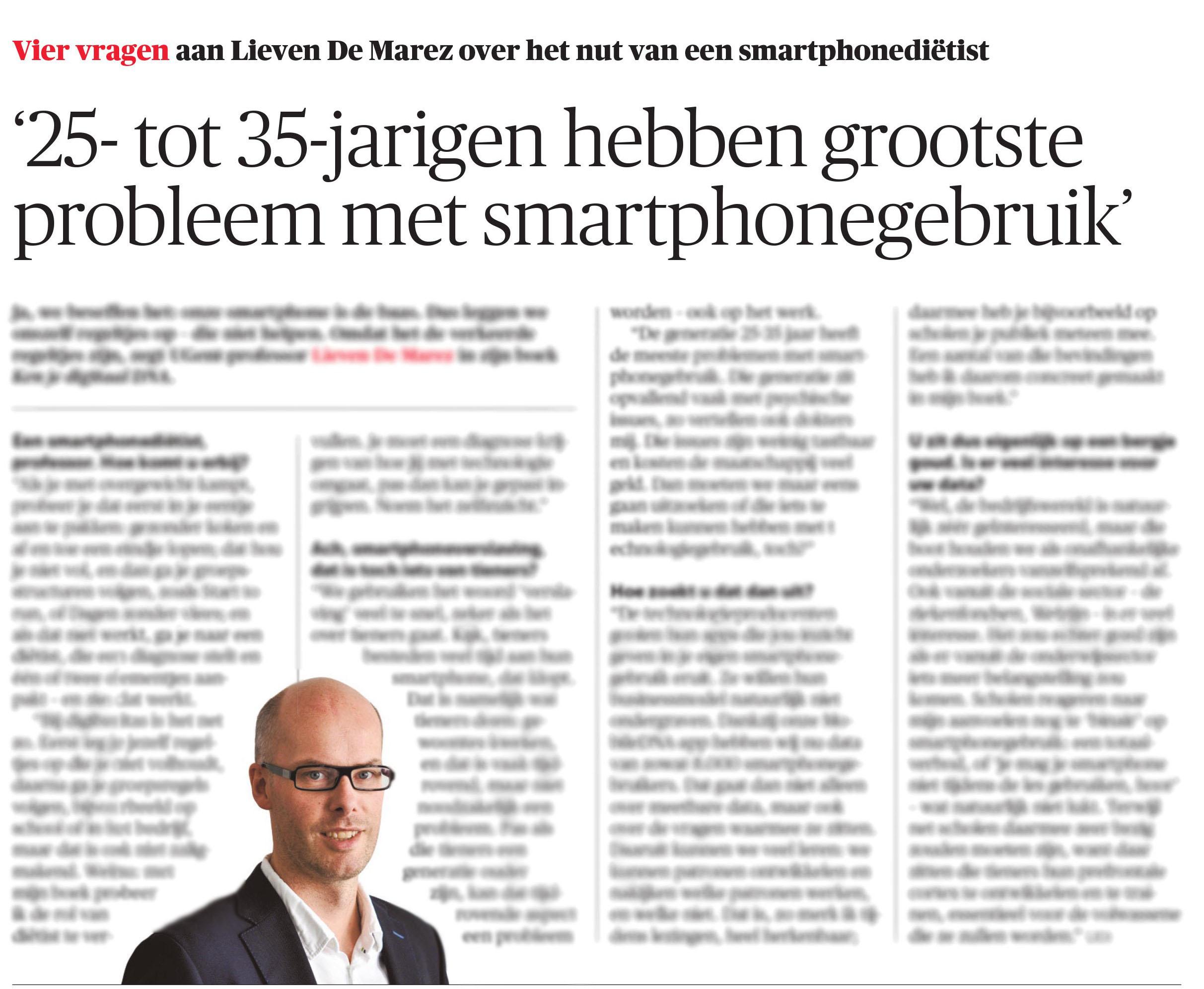 BRON: De Morgen, 08/05/2019, p. 2