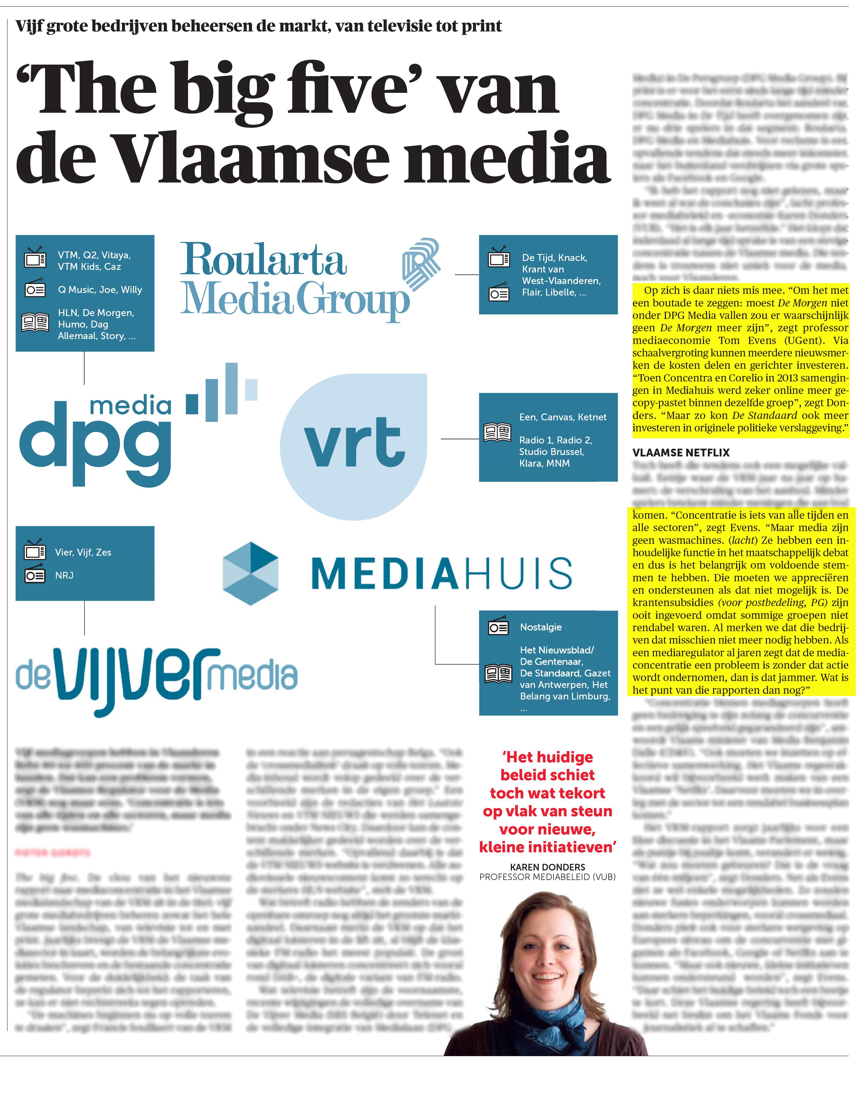 BRON: 20/11/2019, De Morgen, p. 11