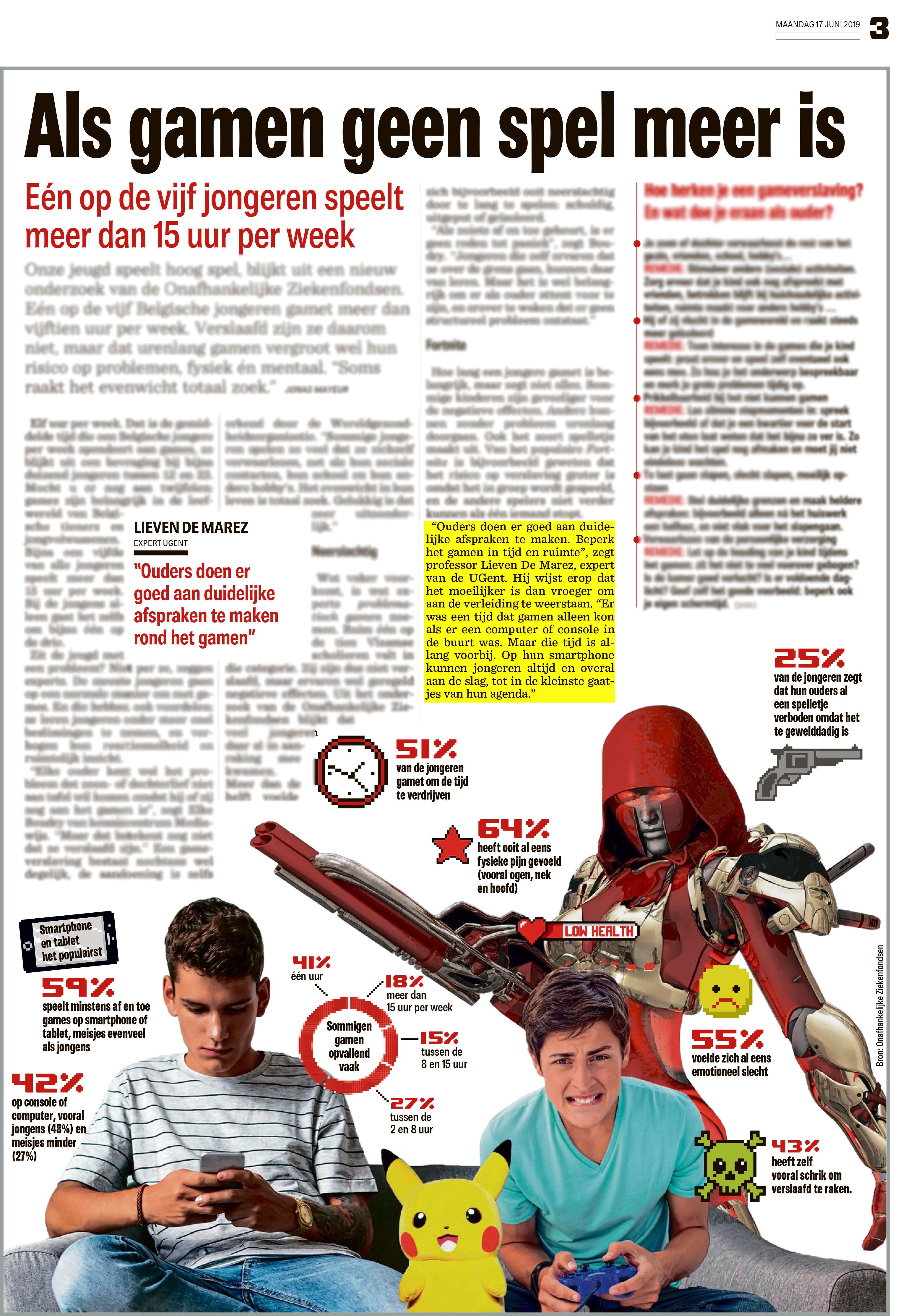 BRON: Het Nieuwsblad, 17/06/2019, p. 3