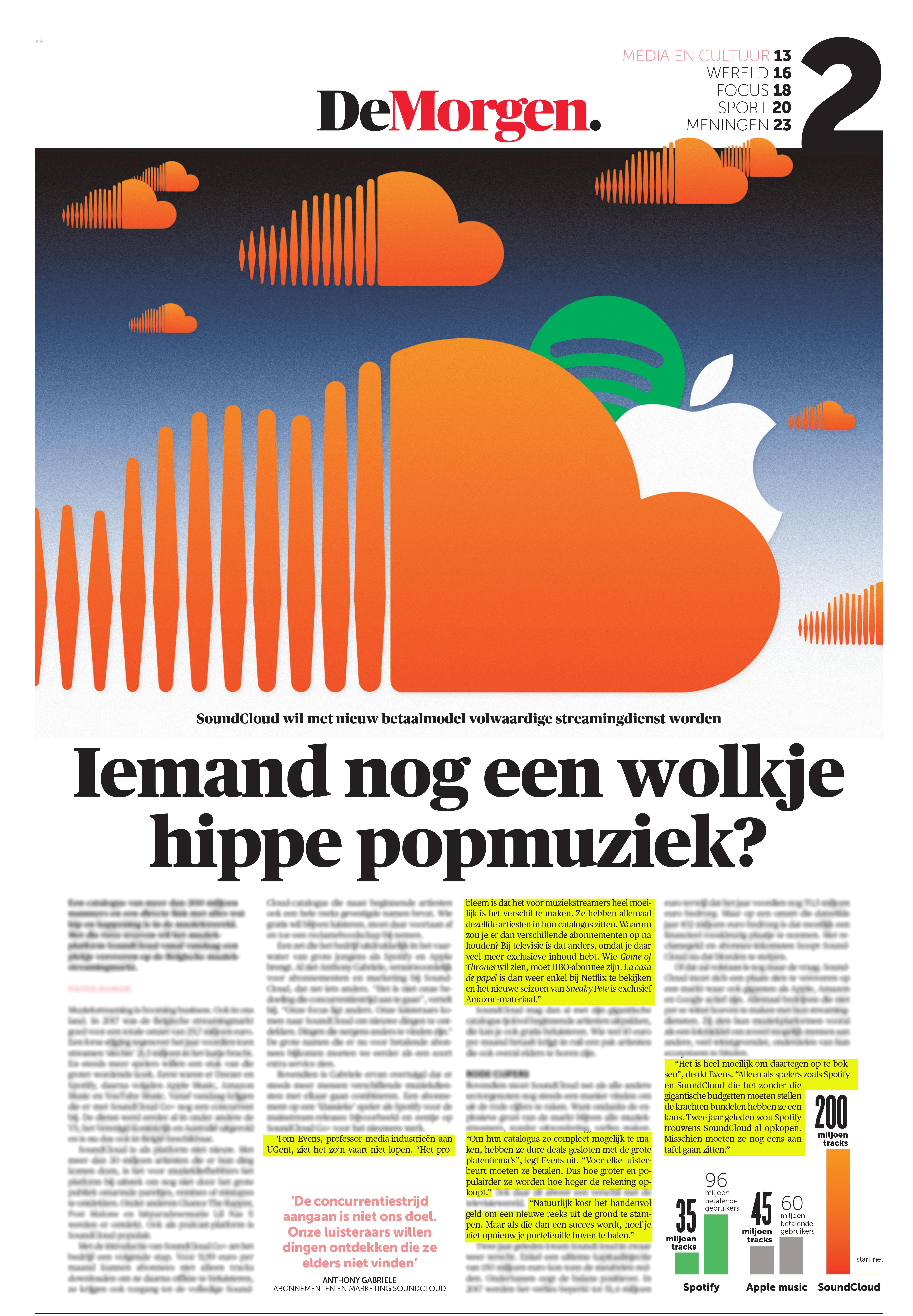 BRON: De Morgen, 04/06/2019, p. 13