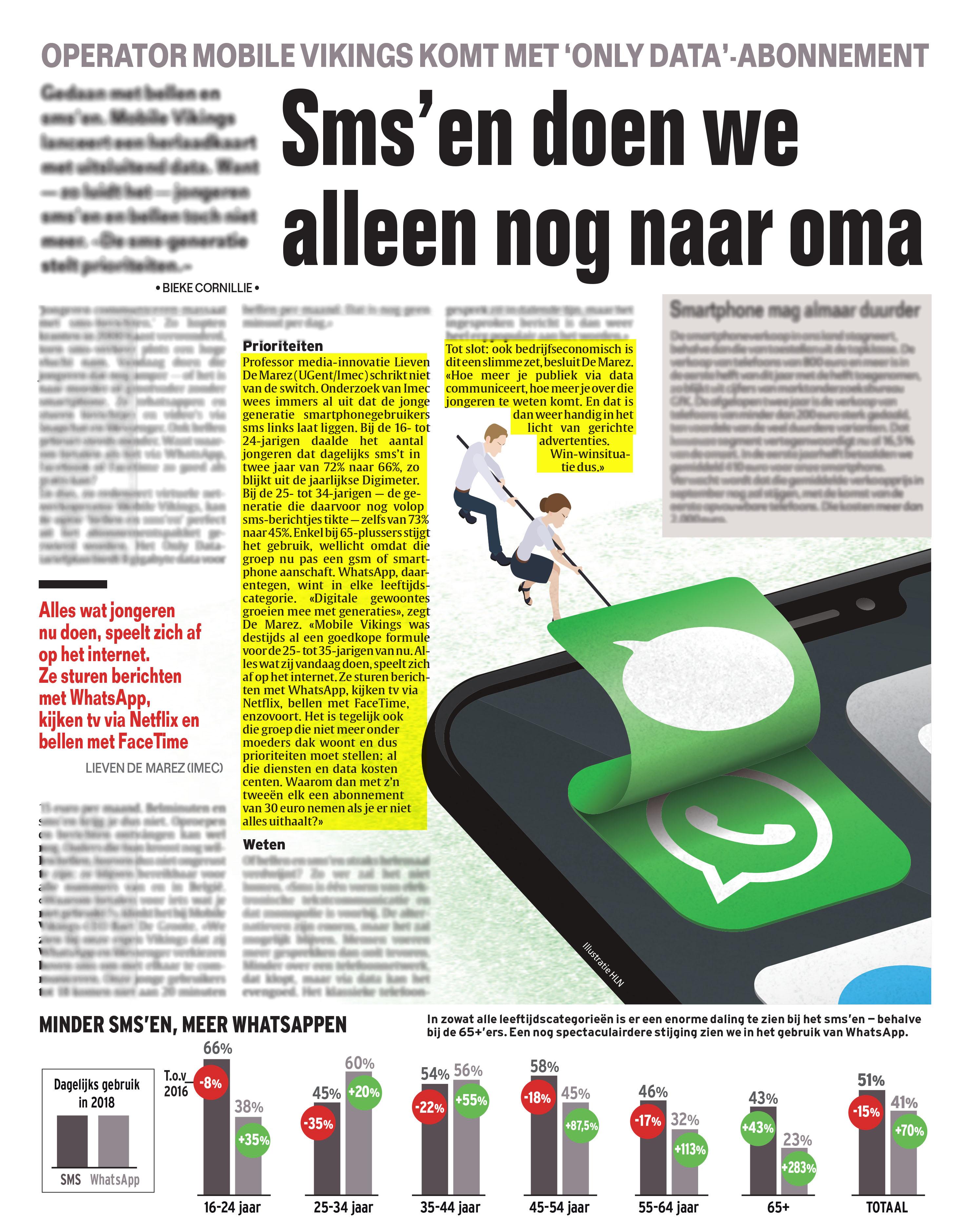 BRON: Het Laatste Nieuws, 06/08/2019, p. 7