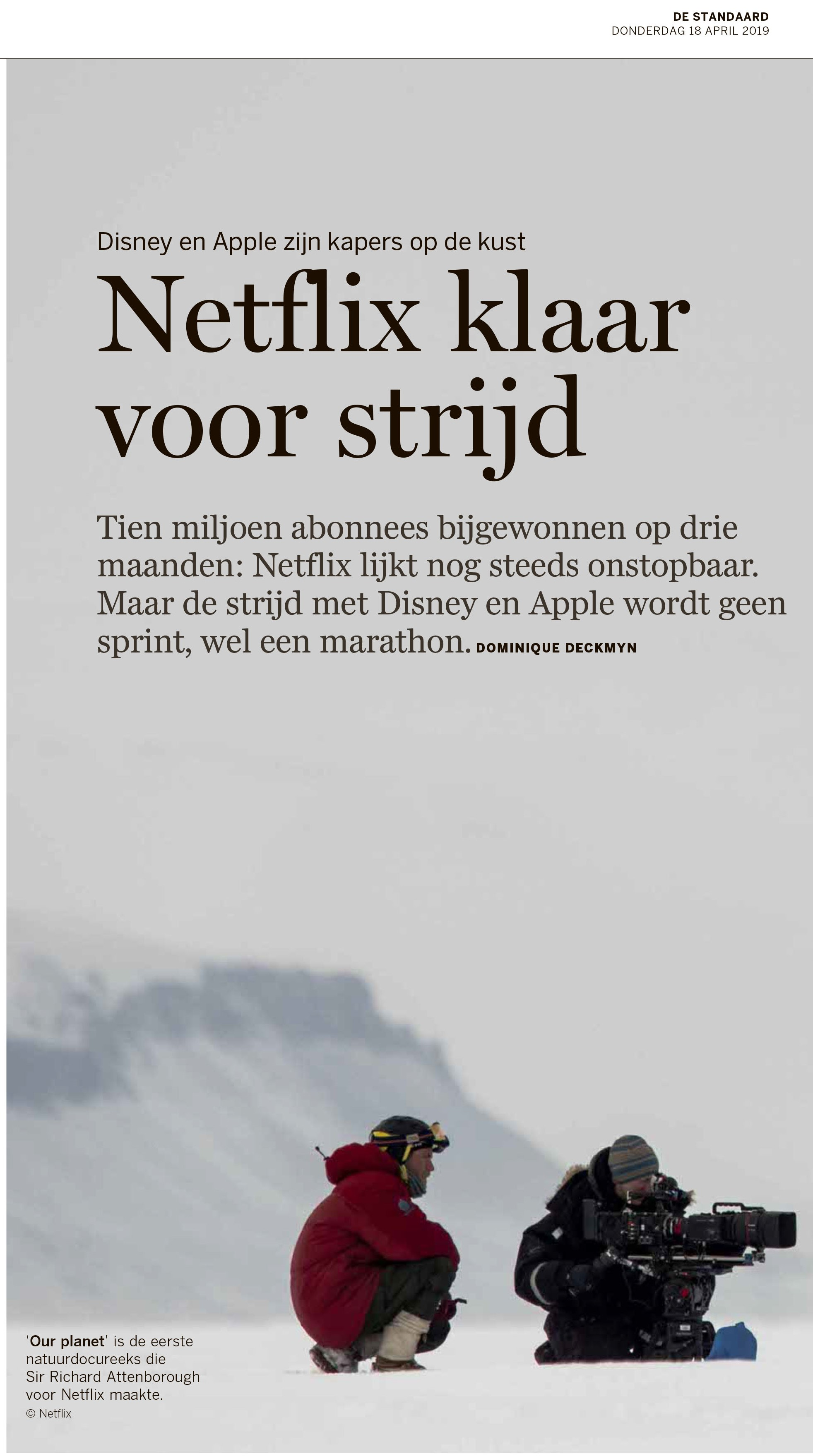 BRON: De Standaard, 18/04/2019, p. 2