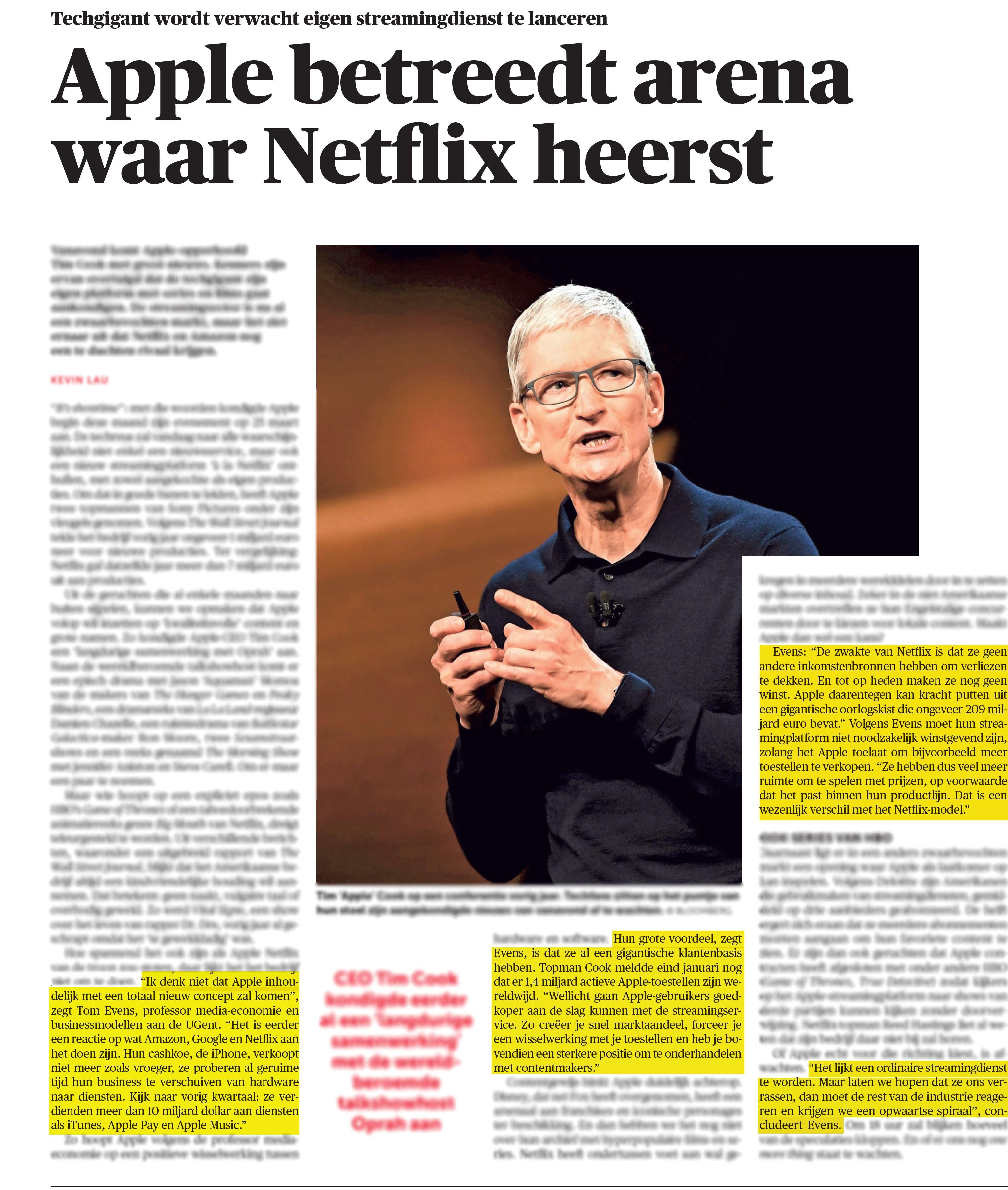 BRON: 25/03/2019, De Morgen, p. 6