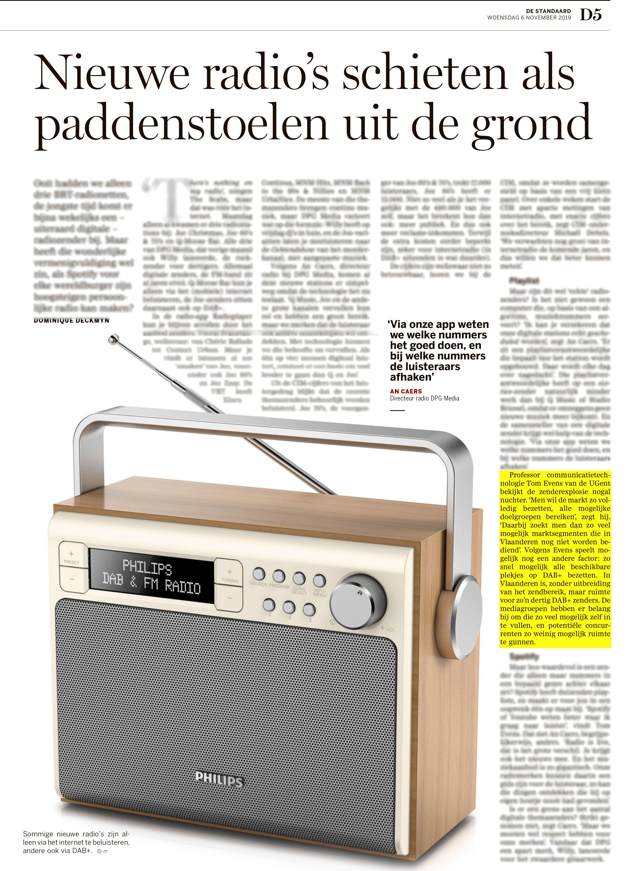 BRON: De Standaard, 06/11/2019, D5
