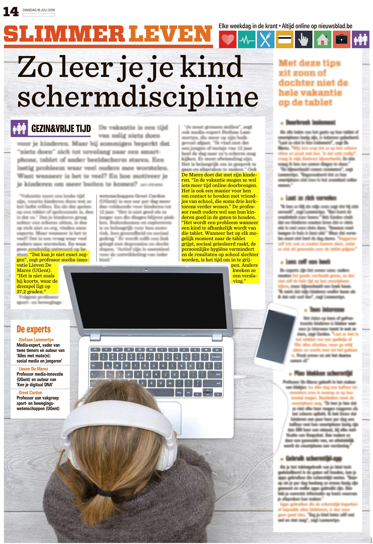 BRON: Het Nieuwsblad, 16/07/2019, p. 14