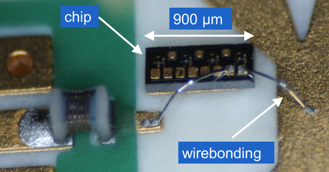 PCB with chip inductor and wirebonded photodiode