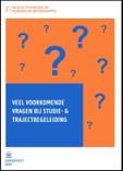 Brochure veel voorkomende vragen bij studie- en trajectbegeleiding
