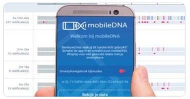Mobile DNA app (vergrote weergave)