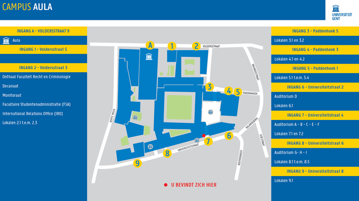Plan site Aula- benamingen vanaf september 2021
