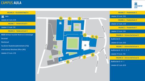 Plattegrond Campus Aula