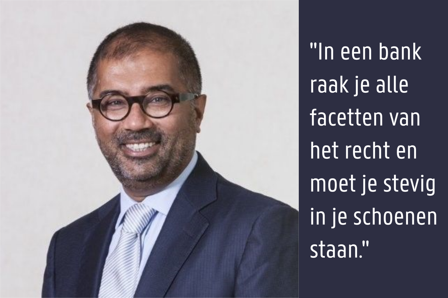 Hanif Mohamed - Group Head of Legal bij Bank Degroof Petercam