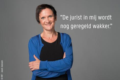 VRT-journalist, Trui De Maré. © VRT - Joost Joossen