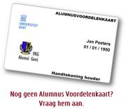 Alumnus Voordelenkaart