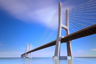 Bridges can be equipped with fibre-optic sensors that continuously monitor their structural health.