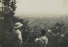 Photo credits: M. Hirschel (on the right) and his Hungarian friend looking out over Kaliurang, 1930 (Leiden University, Collection KITLV)M. Hirschel (on the right) and his Hungarian friend looking out over Kaliurang, 1930 (Leiden University, Collection KITLV)