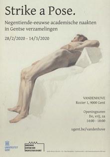 Félix de Vigne, Studie van liggend mannelijk naakt, n.d. (1806-1862) (aquarel en potlood op papier) (Gent, Universiteitsbibliotheek-Boekentoren)