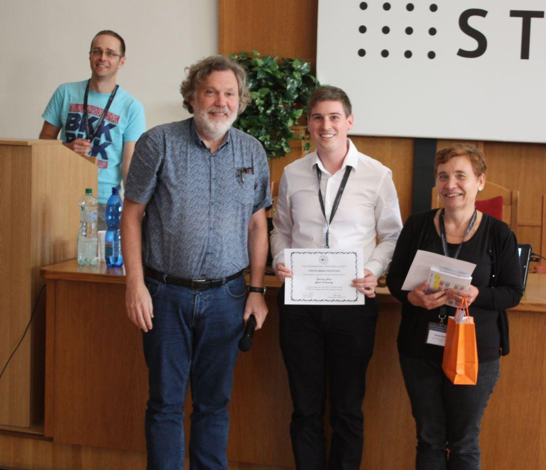 IES student poster award for Kwinten Maes