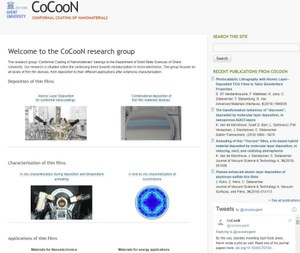old website COCOON (large view)