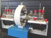 Permeatie setup in metaal-glas