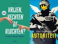 Boeken van Johan Mertens (Vrijen, vechten of vluchten) en Paul Verhaeghe (Autoriteit) bij de cursus 'Biologische Basis van Ons Gedrag' - editie 2016.