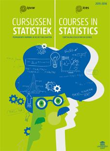 Afbeelding van cover van brochure IPVW-cursus Statistiek, Statistics voor industrie, onderzoekers, wetenschappers, alumni, doctoraatstudenten, PhDs