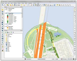 Screenshot van grafisch resultaat van dataverwerking met GIS