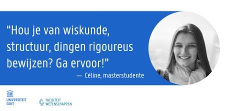 Céline - Masterstudente wiskunde