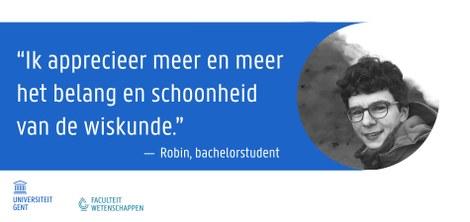 Robin - Bachelorstudent wiskunde