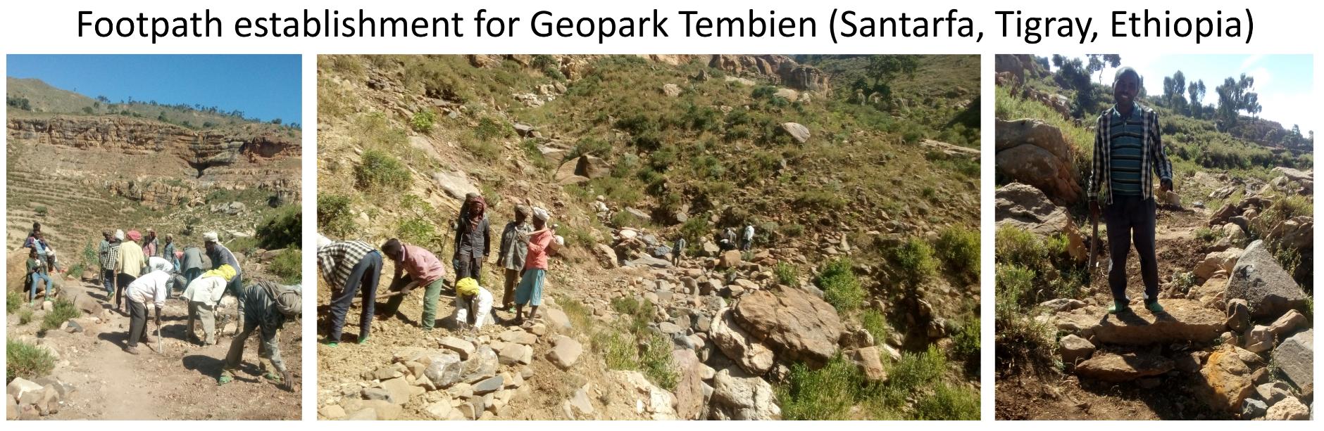 Footpath establishment for Geopark Tembien (Santarfa, Tigray, Ethiopia)