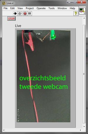 Beeld tweede webcam